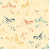 Seamless pattern with doodle stars — Vector de stock