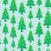 Christmas seamless pattern with fir trees — 图库矢量图片