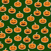 Seamless pattern with halloween pumpkins — Stock Vector