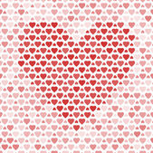 Naadloze patroon met rode harten — Stockvector
