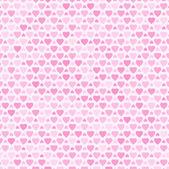 Padrão sem emenda com corações rosa — Vetor de Stock