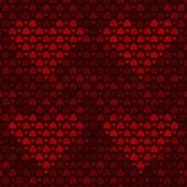 无缝模式与红色的心 — 图库矢量图片