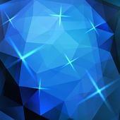 抽象的な青い三角形のベクトルの背景 — ストックベクタ