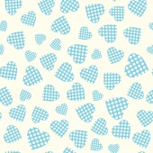 Seamless pattern with applique hearts — Stock Vector