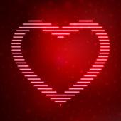 Neon icon heart — Stock Vector
