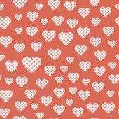 бесшовный образец с сердцами — Cтоковый вектор