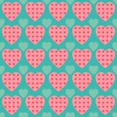 Naadloze patroon met hart — Stockvector