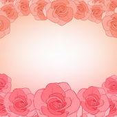 Inbjudningskort med rosor — Stockvektor