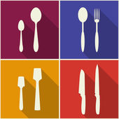 Kitchen utensils and cookware icons — Stock Vector
