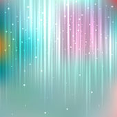 Bright particles on blurred background — Stock Vector