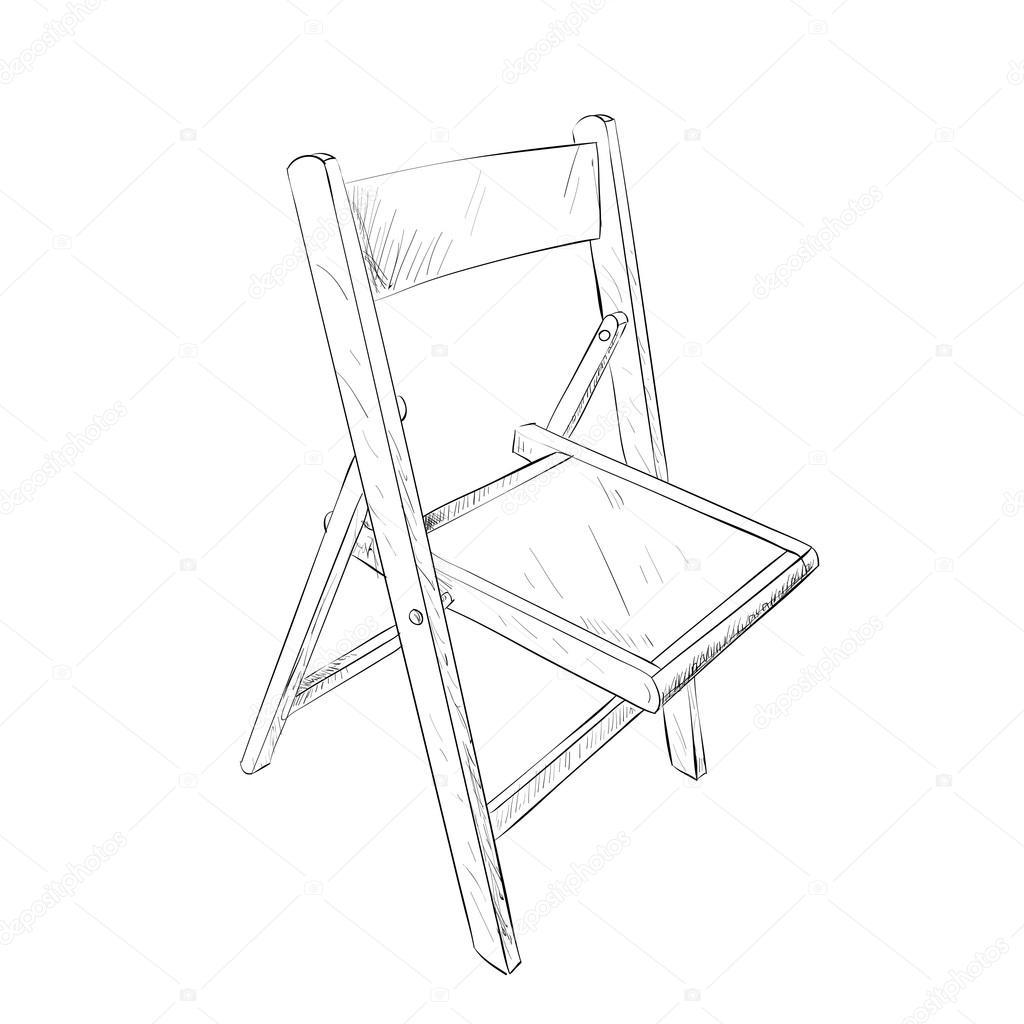 矢量速写的椅子.手绘插图