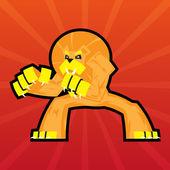 Team Logo Battle Claws Lion Symbol Sport Mascot Icon on Stylish Background Vector Illustration — Stock Vector