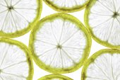 Close-up of slim lemon slices in the horizontal format — Stock Photo