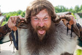 Crazy viking face — Stock Photo