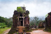 My Son temples in cloudy weather Vietnam — Stock Photo