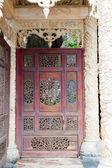 Doors old asian design — Stock Photo