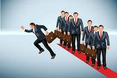 Business run — Stock Vector