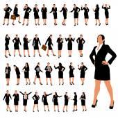 Businesswoman set 2 — Stock Vector