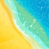 海洋海岸 — 图库矢量图片