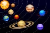 Planets set14 — Stock Vector