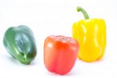 Färgade paprika — Stockfoto