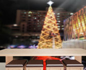 Wood Table Top Background In Holiday — ストック写真