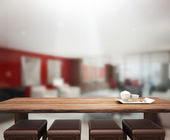 Table Top And Blur Office Background — Foto de Stock