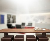 Table Top And Blur Office Background — Stock Photo