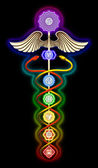 Caduceus Main Chakras — Stock Photo