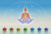 Chakra Meditation — Stock Photo