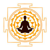Sri Yantra Meditation — Stock Photo