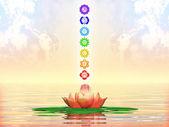 Sacred Lotus And Chakras — Fotografia Stock