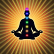 In Meditation With Chakras — Stock Photo #66074341