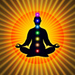 In Meditation With Chakras — Stock Photo #66075425