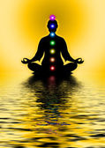 In Meditation With Chakras — Stock Photo