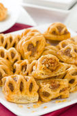 Chorizo Lattice Rolls — Stockfoto