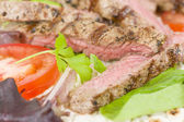 Grilled Beef Wraps — Stock Photo