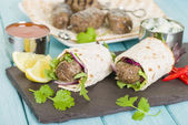 Seekh Kebab Wrap — Foto Stock