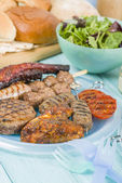 Assorted Barbequed Meat — Stock Photo