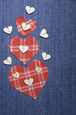 Textile applique for Valentine's Day. — ストック写真