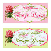 Vintage Flower Banner set — Stock Photo