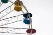 Ferris wheel against white — Stock Photo