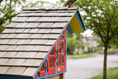 Little house on the corner — Stock Photo