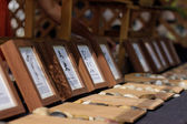 Picture frames at japanese festival — Stock Photo