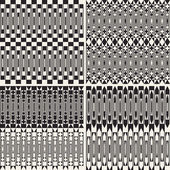 Set of seamless geometric backgrounds patterns — Stock Vector