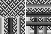 Geometric backgrounds patterns — Stockvektor