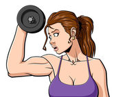 Woman at the gym — Stock Vector