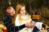 Couple resting in nature — Stock Photo