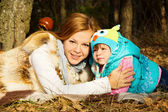 Young beautiful mother with her daughter — Stock Photo