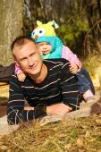 Young dad with daughter — Stock Photo